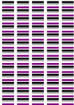 Asexual Pride Flag Stickers - 65 per sheet